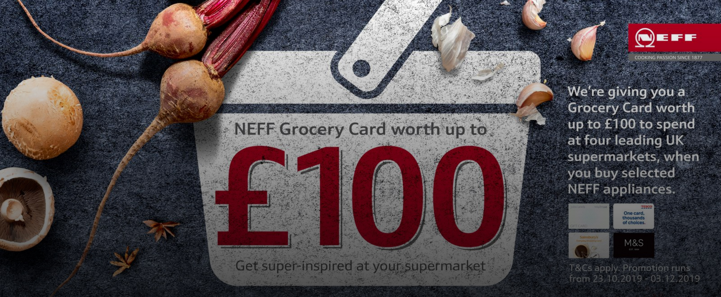 NEFF Autumn Grocery Card promotion 2019
